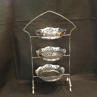 Antique silver plated cake stand