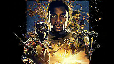 Black Panther Imax Marvel Movie Poster Print T347  A4 A3 A2 A1 A0 