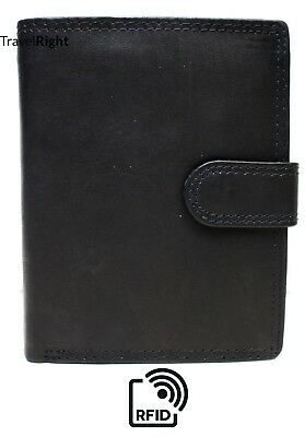 Mens Soft Leather Tri Fold Wallet 12 Credit Card Slots And Coin Pocket Eb03L