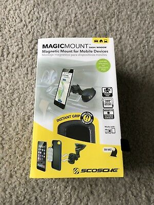 Scosche Magnetic MagicMount Dash or Window - Mobile Devices - MAGWSM2 - Used