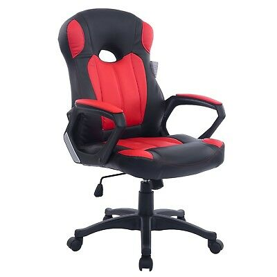 Cherry Tree Racing Gaming Style PU Leather Swivel Office Chair in 2 Colours (Red