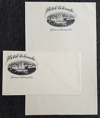 Illustrated Hotel Colorado Stationery & Advertising Cover, Glenwood Springs, Co