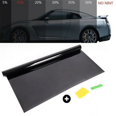 Black Darker UV-Proof Scratch Resistant Car Window Tint Film Tinting Roll Kit PL