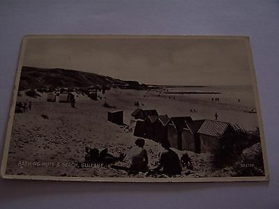 Vintage Postcard Bathing Huts and Beach Gullane Scotland 1939 East Lothian
