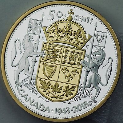 Canada 2018 EXCLUSIVE Masters Club 2 Troy oz, .9999 Pure Silver 1943 Half-Dollar