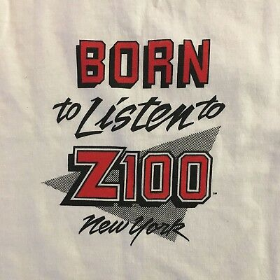 Vintage Z100 New York 1980's Baby Born to Listen T-Shirt Size 2-4