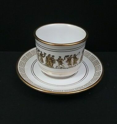Vintage Greek Neofitou White Coffee/ Tea for 6 w/ 24K Gold Trim