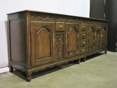 Incredible Baker Furniture Walnut 8' Long French Country Buffet; Exceptional