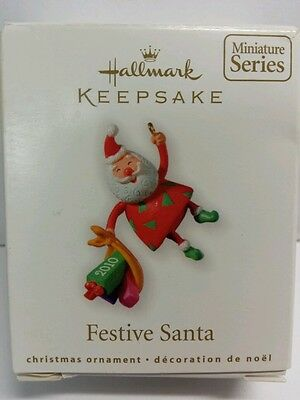 Festive Santa Collector's Series #2 2010 Hallmark Keepsake Christmas Ornament