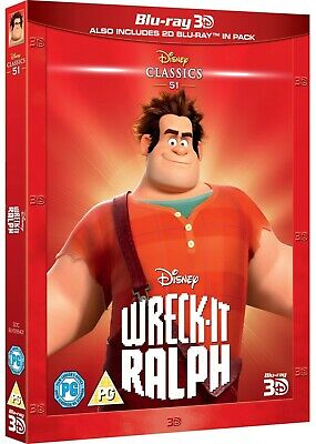 WRECK-IT RALPH [Blu-ray 3D + 2D] (2012) Disney Movie 2-Disc Pack w/ Slipcover