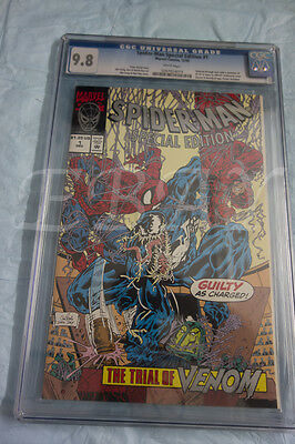 Spider-Man 1 Special Edition  Cgc 9.8 White Pages Unicef Variant Trial Of Venom