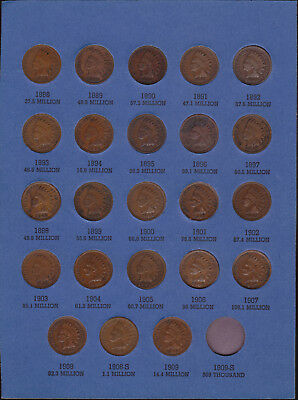 Indian Head Penny Collection 23 Coins Total Includes 1908S