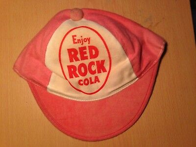 Vintage Red Rock Cola Cloth Soda Baseball Cap Hat Pink Attic Find Rare