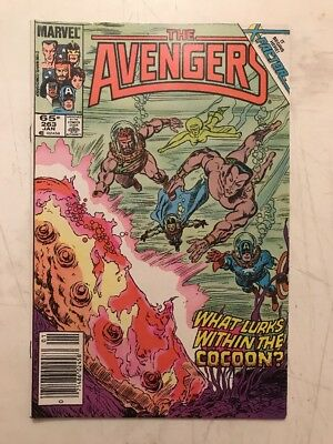 Marvel Comics Avengers #263 Copper Age 1986 Return of Jean Grey Cameo