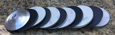 6-inch Velcro-backed SiC Sanding Pads Good for Sanding Granite, Stone, and Glass