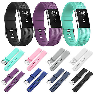 Replacement Wristband Bracelet Strap Band for Fitbit Charge 2 Classic Buckle