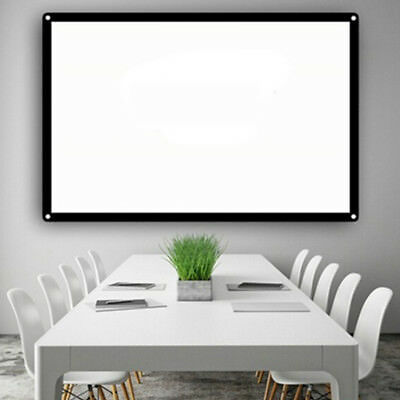 Projector Curtain Projection Screen Lightweight Portable 72inch 16:9 Bar