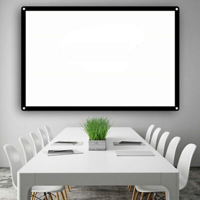 Projection Screen Projector Curtain Durable Portable 84inch Foldable Office