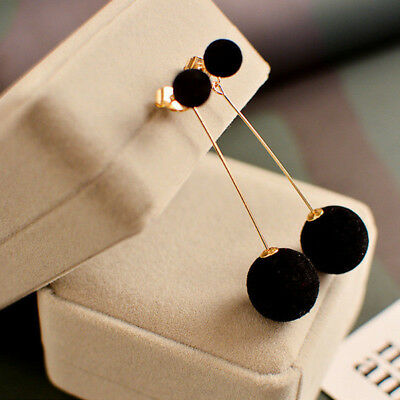 Fashion 1 Pair Women Ball Double-sided Earrings Long Dangle Jewelry Charm Hot
