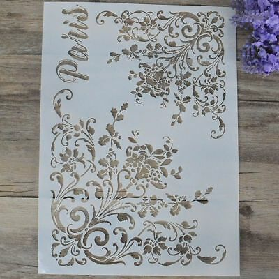 Alphabet Wall Painting Stamp Embossing Template Scrapbooking Layering Stencils