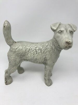 HUBLEY Replica CAST IRON WIRE HAIRED FOX TERRIER 8 TALL DOOR STOP -6 pounds ***