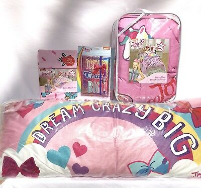 Jojo Siwa Twin Bedding Comforter 3 Pc Sheet Set Unicorn Pillow Buddy