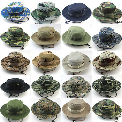 Bucket Hat Boonie Hunting Fishing Outdoor Cap Wide Brim Military Unisex Sun  Hat 699526bf51e1