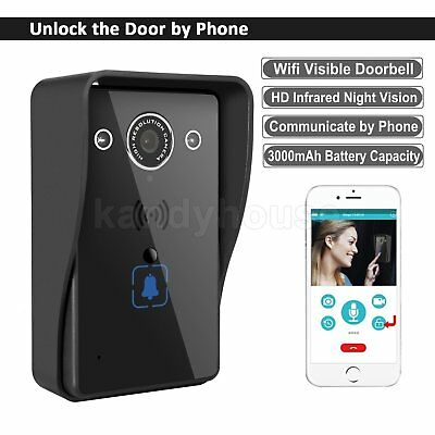 Wireless Remote WiFi Home Security HD Video Smart Phone Camera DoorBell PIR Ring