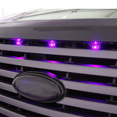 3pc Fit Truck SUV Ford SVT Raptor Style LED Purple Grille Lighting Kit Universal