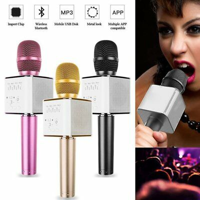 US Q9 Wireless Karaoke Microphone Bluetooth USB Speaker Amplifier Mini Home KTV