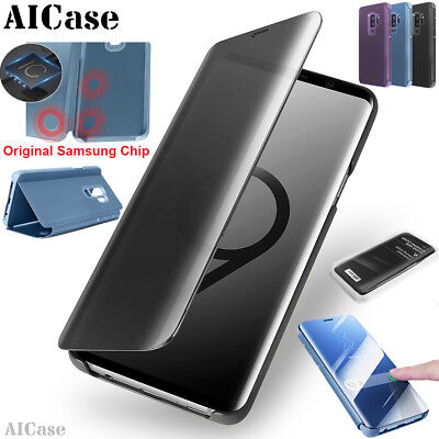 buy popular a9b04 b5665 ORIGINAL SAMSUNG CHIP Galaxy S9 S8 Plus Note8 Touch Flip S-View Stand Case  Cover