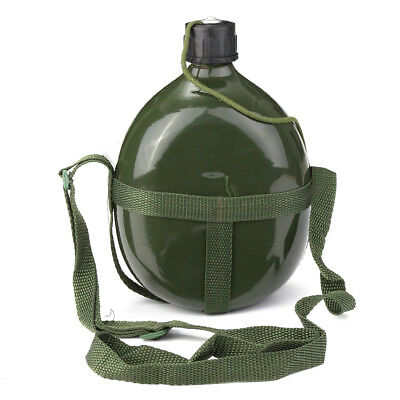 1.5L Military Patrol Water Bottle Army Canteen & Carry Case Hiking Travel Olive