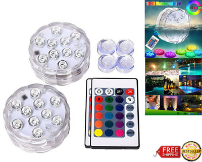 LED Lights Color Changing Swimming Pool Pond Decor Waterproof W/ Remote Control