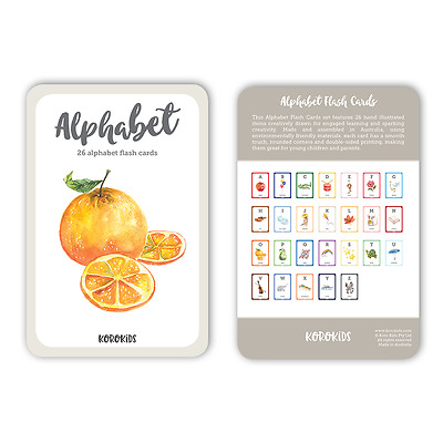 NEW FLASH CARDS. ALPHABET set. CREATIVELY drawn.