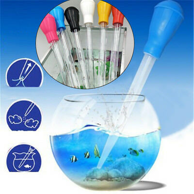 Aquarium BBQ Tool Rubber Pipette Water Changer Gravel Cleaner Fish Tank Siphon