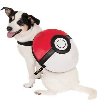 Rubie's Pokemon Pokeball Dog Backpack Pet Costume US Import Fancy Dress S/M M/L