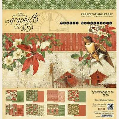 Graphic 45 Winter Wonderland 12x12 Collection Pack New Free P & P