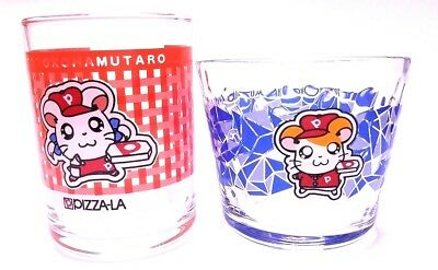 Japan Anime 2 Tottoko Hamtaro Not For Sale Glass Cup Box Limited Rare Kids