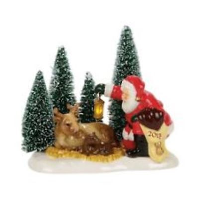 Dept 56 Snow Village Lit Santa Comes To Town, 2017-- New In Box