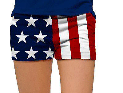 Loudmouth Golf Mini-Shorts, Womens USA- Size-2 GREAT PRICE, FREE SHIPPING