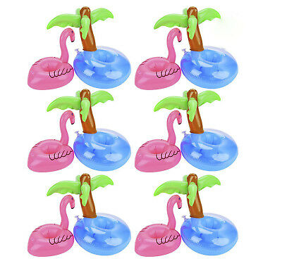 Flamingo Inflatable Floating Swimming Pool Beach Drink Can Cup Beer Holder Boat