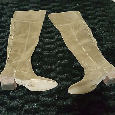 311c611118e NEW Dolce Vita Sz 9.5 Boots Womens SILAS Over the Knee  300 Khaki Suede  Tall 2