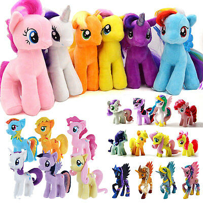My Little Pony Horse Figures Stuffed Plush Soft Teddy Doll Toys Kid's Baby Gift