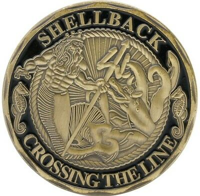 United States Navy Shellback Crossing The Line Ancient Order Of The Deep Coin