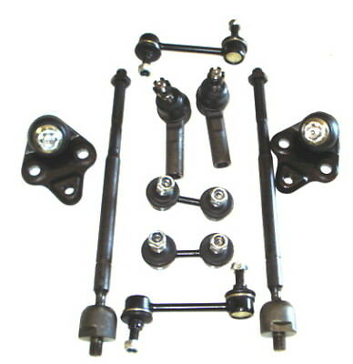 Tie Rod End Sway Bar Link Kit Toyota Corolla 93-02 Front & Rear Ball Joint 10Pcs