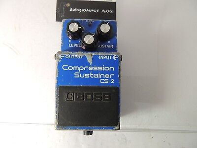 Boss CS-2 Compressor Sustainer Effects Pedal Compression Sustain Vintage MIJ