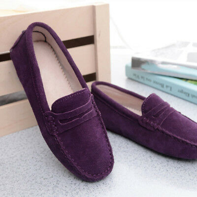 b34fde9e50e Women s Driving Loafers Ladies Suede leather Shoes Slip on Moccasins Flats  Comfy