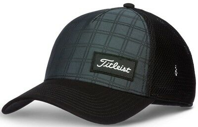 8978e17642319 New 2018 Titleist Golf WEST COAST HUNTINGTON BLACK PLAID Ball Cap Hat