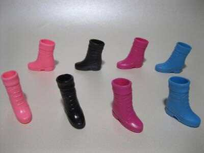 Lot Mattel Barbie Doll Fashionista 1990s Classic ANKLE  CUFF Boots Shoes 4 Pair