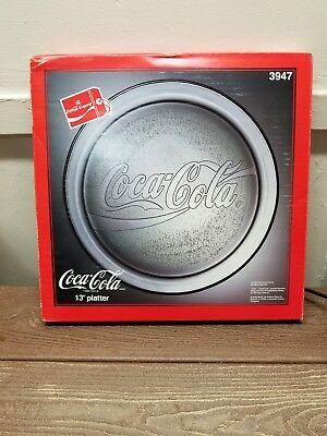 vintage coca cola plate coke 90's 1990 glass serving tray new nib